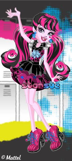 """Monster High Draculaura - """"How Do You Boo? - First Day of School"""" Dress Up Game : http://www.starsue.net/game/How-do-you-Boo-Draculaura.html Have Fun! -♥-"""