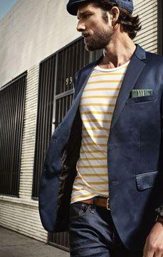 Stripes go home, you're yellow (I hope you get the joke).  #menswear #style #stripes