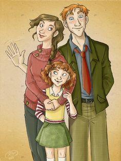 Ron, Hermione and Rose