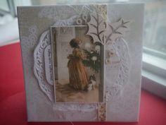 Beautiful Vintage Christmas handmade greeting card by CREATEandBe