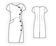 4342 PDF Kleid nähen Muster  Frauk personalisierte für Ihre