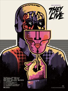 very 1960's MONDO John Carpenter's They Live print by We Buy Your Kids