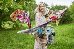 Let's get wild about the splendid bloom in the meadow. Wool Scarf, Scarves, Bloom, Spring Summer, Collection, Women, Fashion, Scarfs, Moda