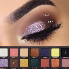 ABH Prism palette on @najahartistry #eyeshadowsideas