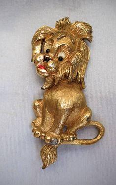 Favoloso PANETTA Vintage Design Lion spilla Pin