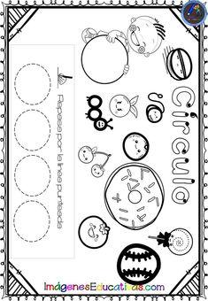 Shapes Worksheet Kindergarten, Shapes Worksheets, Spanish Teaching Resources, Math 2, Hands On Activities, Preschool, Classroom, Education, Toddler Activities