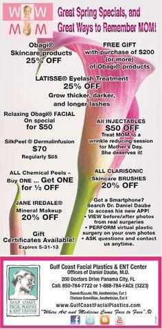 Mothers Day Special  - Medical Spa - Gulf Coast Facial Plastics & ENT Center