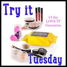 Today Is Try It Tuesday!!Try Younique's 6 new amazing products. Get yours TODAY!! You have nothing to lose with the LOVE it guarantee. That's what I call worry free shopping. www.youniquelychris.com