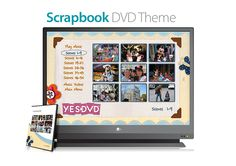 Scrapbook Theme for Custom DVD - Digitize your Scrapbooks with YesVideo