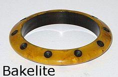 SOLD...Vintage Bakelite Bangle Bracelet with Carved Dots