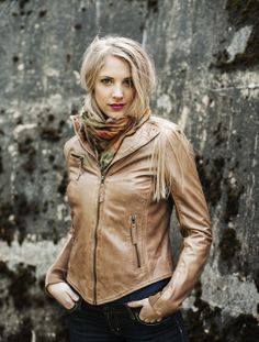 """Isa"" Classic biker leather jacket. AW-2013/14"