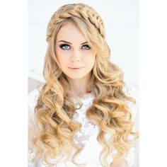 12 Pretty Braided Crown Hairstyle Tutorials and Ideas ❤ liked on Polyvore featuring hair