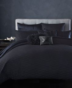 donna karan home pair of silver pillowcases beautiful an and count