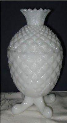 Milk Glass Pineapple