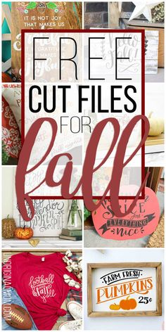 A great list of cute free cut files for fall! Perfect for fall crafting with your Silhouette or Cricut. A great list of cute free cut files for fall! Perfect for fall crafting with your Silhouette or Cricut. Cricut Craft Room, Cricut Vinyl, Cricut Fonts, Cricut Air 2, Cricut Svg Files Free, Tag Design, Cricut Design, Fall Crafts, Diy And Crafts