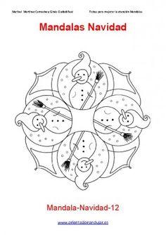 Coloring Page Mandala Christmas