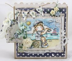 Tilda Offshore, Memory Shells & Romantic Sunset Background / Cards by Camilla
