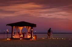 Oman | Romantic Weekend Dinner on the Salalah Beach. credit: Hilton Salalah Resort. view on Fb https://www.facebook.com/SinbadsOmanPocketGuide #Oman #TravelToOman #SinbadPocketGuide
