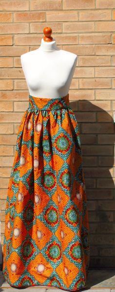 African print skirts, maxi high waist skirt, Ankara print skirt, African print maxi skirt by AbrefiFashion on Etsy https://www.etsy.com/listing/230130730/african-print-skirts-maxi-high-waist