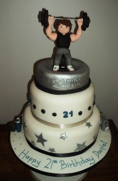 Cake Designs For Gym Lovers : 1000+ images about Birthday cake ideas on Pinterest Gym ...