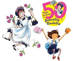download free party kit  Amelia Bedelia will be 50 years young in 2013, and you're invited to her birthday party!  The celebration kicks off on January 29, 2013—Amelia Bedelia Day.