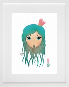 A seemingly simple image 'Moana Hine' has a hidden secret - petite hummingbirds hidden within her eyes. This unframed fine art print is limited to 15 editions. Moana, New Zealand, Frost, Pop Art, Fine Art Prints, Moose Art, Tattoo Designs, Hummingbirds, Cool Stuff