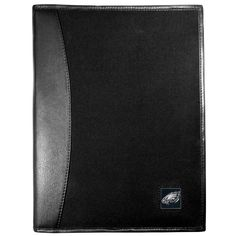 "Checkout our #LicensedGear products FREE SHIPPING + 10% OFF Coupon Code ""Official"" Philadelphia Eagles Leather and Canvas Padfolio - Officially licensed NFL product Bound in fine grain leather Durable canvas finish with nylon interior 6 card slots for badges, business cards, hotel keys and more Fully cast metal Philadelphia Eagles emblem making it the perfect gift for the sports loving business professional in your life - Price: $46.00. Buy now at…"