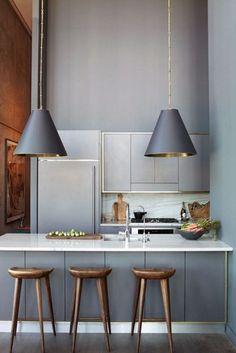 plan de travail en marbre dans cuisine contemporaine