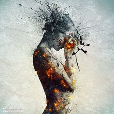 Deliberation (2012)  |  Artist:  Mario Sánchez Nevado  |  Tutorial: http://design.tutsplus.com/tutorials/molten-shattered-statue--psd-17575  |  http://aegis-strife.net