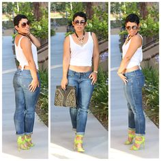 #OOTD Jeans + Tee Casual Look - Mimi G Style #ChevyChic http://www.essence.com/essence-street-style-contest