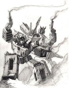 Transformers - Sunstreaker & Prowl - Livio27.deviantart.com