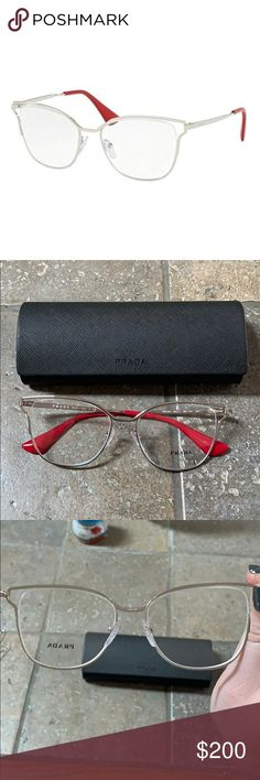 00fe877fa16d Prada Cinema Glasses Never worn with sticker on lens and case. Wear these  for fun or add your own prescription or sunglasses lenses.
