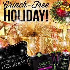 Grinch Free Holiday Beat the stress of the holidays with Greens on the Go and Confianza Mary Christmas, Christmas Post, Christmas Holidays, Holiday Deals, Holiday Gifts, Holiday Pack, It Works Triple Threat, It Works Loyal Customer, It Works Greens