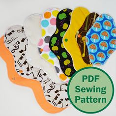 Cucicucicoo Cloth Menstrual Pads pattern: a professional digital PDF sewing pattern in English or Italian. Beginner level with fully illustrated steps.