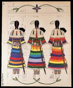 parfleche | ... Women , as well as for her beadwork, parfleche, and textiles