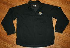 Toledo Walleye Hockey ECHL Under Armour soft shell Jacket Men's Large black zip #underarmour #BasicJacket
