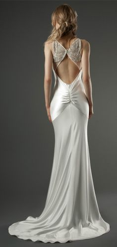 Elizabeth Fillmore's butterfly-back wedding dresses. See the detail-shot at the click-through!