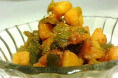 Potatoes with capsicum is my favorite lazy day dish. This dish tastes great with hot fulkas or plain dal chawal. Try preparing this on a lovely rainy afternoon. Serve it hot with steaming rice, dal. You may also team it up with my yummy Mumbai pakora recipe here http://secretindianrecipe.com/recipe/pyaz-pakora-kanda-bhaji-onion-fritters