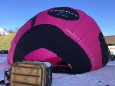 Flying High in Chaplin's World Balloon at Chateau d'Oex Outdoor Gear, Switzerland, Baby Car Seats, Balloons, World, Snow, Colour, Color, Globes