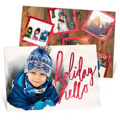 How beautiful is this card with foil script with fun foil frames on the back? We just love it! Not to mention, it's on double thick paper & it has foil on both sides—super fancy! #holiday #ChristmasCards #PremiumCards
