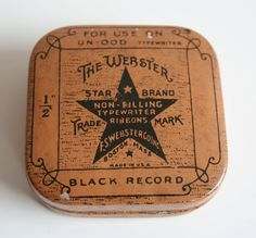The Webster Star Brand typewriter ribbon tin