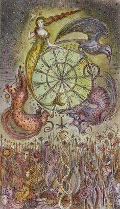 X - La roue de la fortune - Tarot Paulina par Paulina Cassidy