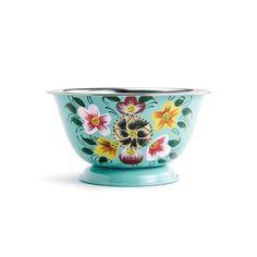 Enameled Floral Bowl