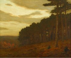 """""""Autumn - New England,"""" Charles Warren Eaton, oil on canvas, 30 x 36"""", private collection."""