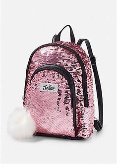 Sequin Mini Backpack from justice Cute Mini Backpacks, Stylish Backpacks, Girl Backpacks, School Backpacks, Leather Backpacks, Leather Bags, Backpack Purse, Crossbody Bag, My Bags