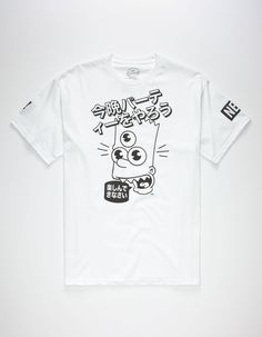 Neff x The Simpsons Wasabi tee. Three-eyed Bart Simpson graphic with Japanese text screened on front. Neff logo screened on left sleeve. Short sleeve. Crew neck. 100% cotton. Machine wash. Imported.