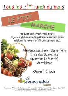 Le ptit marché, produits du terroir. Le lundi 11 novembre 2013 à Montélimar.