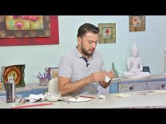 Decoupage, Diy, Baseball Cards, Paintings, Painted Boxes, How To Paint, Space, Tutorials, Bricolage