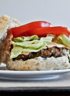 Asian Turkey Burgers with Spicy Lime Mayo.   howsweeteats.com