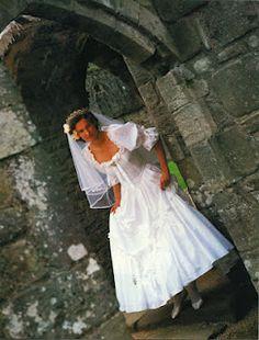 Laura Ashley!  My gown (1986).  Still in my closet.